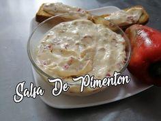 Salsa de Pimentón Con Queso Crema - YouTube Empanadas, Dips, Brunch, Food And Drink, Pizza, Pudding, Cheese, Snacks, Desserts
