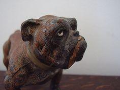 Bull Dog Figurine Antique German Metal