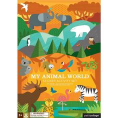 Petit Collage - My Animal World Sticker Activity Book - Designed in San Francisco – Mapamundi Kids Animal Activities, Indoor Activities, Book Activities, Collage, Stocking Fillers For Kids, Sticker Paper, Stickers, My Animal, Gifts For Kids