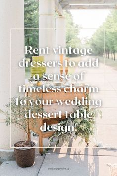 Want vintage but not a vintage theme? We can help! Read the blog today for how to add vintage rentals without being theme-y! Wedding Desserts, Wedding Themes, Wedding Vendors, Wedding Designs, Wedding Events, Wedding Decorations, Weddings, Vintage Dressers, Vintage Furniture