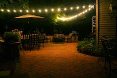 Oh how I love #cafe #string #lights and how I want them on my future patio!