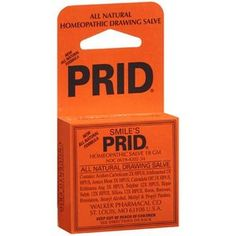 PRID Homeopathic Drawing Salve...this is an old timey remedy that truly works on everything - ingrown hairs, splinters, bug bites, cystic acne, weird unidentifiable rashes. Talk to anyone over age 65 and they may remember this from their childhood.