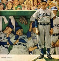 """""""The Dugout"""" by Norman Rockwell"""