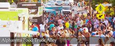 City of Alpharetta, Ga: Alpharetta Food Truck Alley is from 4/16 to 10/22 details here...