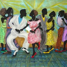 Kathleen Atkins Wilson: Party Over Here Art Pictures, Art Images, Art Pics, Dance Paintings, Bad Art, African American Art, African Art, Black Artists, Dance Art