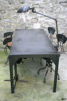 1000 images about furniture industrial on pinterest for Equerre pour table rabattable