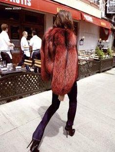 Cozy up in faux fur #inspo #SALSIT #fashion