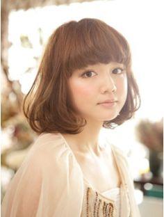 ノラ ヘアーサロン(NORA HAIR SALON) ゆるカールフレンチボブ Asian Hair, Cut And Color, Pretty Face, Simple Style, New Hair, Most Beautiful, Hair Beauty, Elegant, Lady