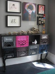 ministry of deco.mueble hecho con cajas de fruta design sponge
