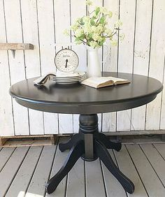 rustandrelics | Furniture-Round Black Dining Table $150 from Rust & Relics LLC. Get Industrial Farmhouse Furniture, Decor, Accessories and MORE for CHEAP from Rust & Relics LLC. Farmhouse Clock, Farmhouse Kitchen, Farmhouse Decor, Interior Design, Home Staging, Store, E-design, Wedding Rentals and MORE!! Your NEW favorite site for all things Farmhouse, Rustic, Modern and Industrial.
