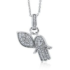 Sterling Silver Cubic Zirconia CZ Religious Hand Eye Pendant Necklace BERRICLE. $51.29. Gender : Women. Metal : Stamped 925. Stone Type : Cubic Zirconia. Stone Total Weight (ct.tw) : 0.52