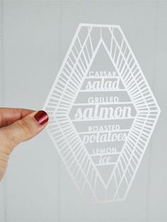 Oh So Beautiful Paper: Wedding Stationery Inspiration: Geometric Shapes