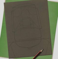 How to draw… Easter Island heads | Children's books | The Guardian Sharp Pencils, Draw Two, Deep Set Eyes, Book Sites, Easter Island, White Pencil, Eye Shapes, Pencil Illustration, Paper Texture