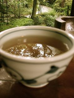 tea reflection