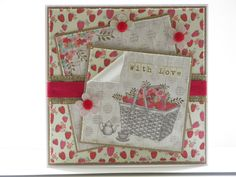 Image and papers from Al Fresco pad with Craftwork Cards flowers and Candi