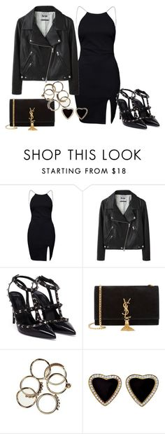 """""""Untitled #198"""" by charlotte-down on Polyvore featuring NLY Trend, Acne Studios, Valentino and Yves Saint Laurent"""