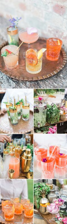 Unique and visually stunning wedding cocktails | Image by Amy Fanton Photography
