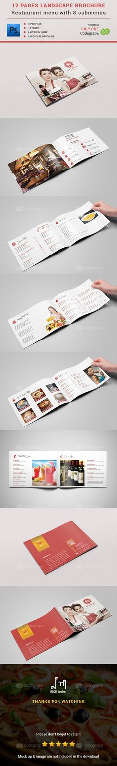 Restaurant Menu - 12 Pages on @codegrape. More Info…
