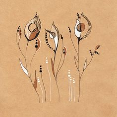 Drawings on the brown paper on Behance