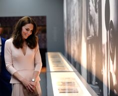"LONDON 04 May - National Portrait Gallery's Vogue 100: A Century of Style Exhibition • Alexander McQueen Wool Cashmere Blend Dress ($3395) • LK Bennett ""Fern"" Pumps in Trench ($280) • LK Bennett..."