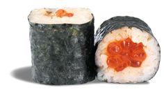 MAKI OEUFS DE SAUMON  - rouleau de riz enroulé de nori et garni d'œufs de saumon