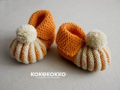 Baby booties mades by crochet by kokekokko on Etsy
