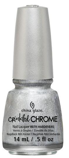 China Glaze 'Crinkled Chrome' - Aluminate  #chinaglaze #crinkledchrome #cg2014