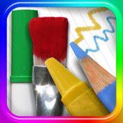 ZeichenPad (iOS) - Verschiedene Malwerkzeuge, Farben und Techniken, dazu noch die Möglichkeit externe Bilder einzufügen bietet diese App