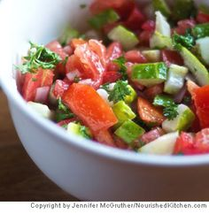 Tomato and Cucumber Salad - quick, easy, and healthy!