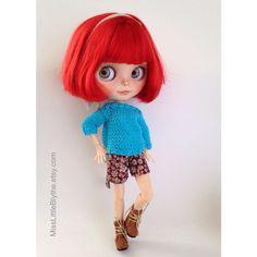 Un favorito personal de mi tienda Etsy https://www.etsy.com/es/listing/476992430/ooak-custom-blythe-doll-fake-allegra