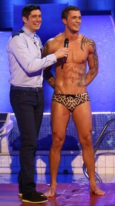 Dan Osborne Dan is currently a finalist on the British celebrity diving show Splash where he wears these very tiny diving trunks and stands around looking...