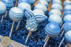 Little Mermaid Cake Pops Mermaid Cake Pops, Little Mermaid Cakes, The Little Mermaid, Blue Cake Pops, Blue Cakes, Desserts, Food, Tailgate Desserts, Deserts