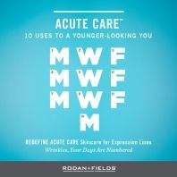 Monday, Wednesday, Friday, Monday, Wednesday, Friday, Monday, Wednesday, Friday, Monday—all it takes is to apply REDEFINE ACUTE CARE™ three days a week for a total of 10 uses and you're on your way to smoother-looking skin. #CountWrinklesOut #LifeRedefined