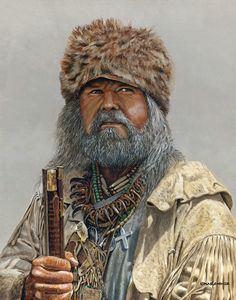 art painting mountain men | Western Mountain Man Art - The Mountain King - Gage Skinner Painting
