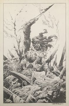 Conan 11x17 commission by Tomas Giorello Comic Art Art Gallery, Selling Artwork, Featured Art, Comic Art, Art Store, Painting, Types Of Art, Art, Art Sketches