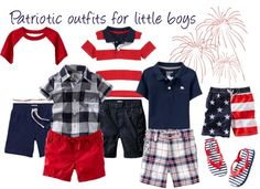 Adorable patriotic outfits for little boys! I love them all!
