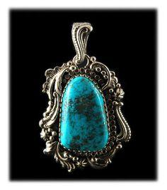 Morenci Turquoise Pendant by John Hartman of Durango Silver Company
