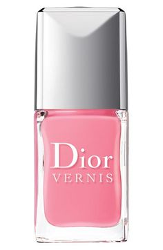 Dior 'Cherie Bow' Nail Lacquer available at // I want a permanent manicure in this shade for spring. Dior Nail Polish, Dior Nails, Nail Polish Colors, Pink Polish, Nail Polishes, Nail Manicure, Gel Nail, Nordstrom, Color Magenta