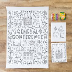 Lds Coloring Pages, Printable Coloring Pages, Coloring Pages For Kids, Free Coloring, General Conference Activities For Kids, Primary Activities, Primary Lessons, Indoor Activities, Lds Conference