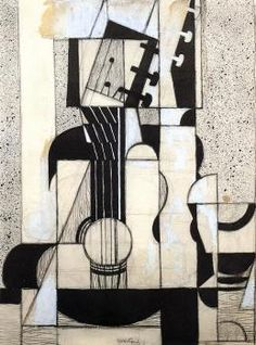 Still Life with Guitar - Juan Gris - The Athenaeum