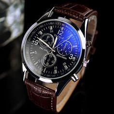 2016 Marca de Fábrica Famosa de Cuarzo Reloj de Los Hombres de Moda 3 Diales Reloj Deportivo Reloj de Pulsera para Hombres Relogio masculino Reloj de Cuero Ocasional