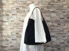 【オーダー枠】黒色の本革紐トートバッグ