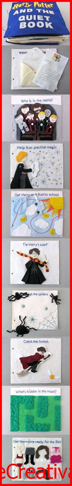 KhadeCreativa.com Harry Potter Quiet Book source by :http://pinterest.com/pin/48484133461013019/