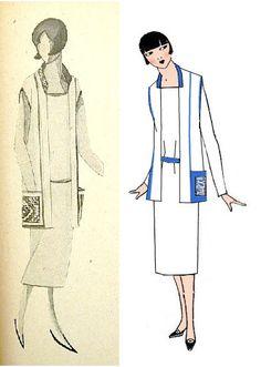 Nadezhda Lamanova design, 1931.