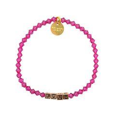 Keepsake Gold-Plated Love Bracelet available at Little Words Project (www.littlewordsproject.com)