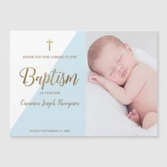 Keepsake Baby boy Blue baptism photo thank you Christening Thank You Cards, Baptism Photos, Magnetic Business Cards, Birth Announcement Boy, Thank You Postcards, Baby Boy Photos, Personalized Note Cards, Boy Blue, Birthday Photography
