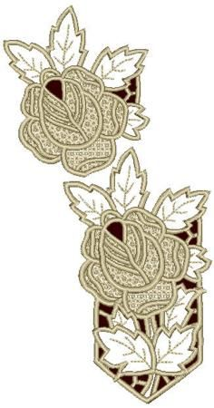 Advanced Embroidery Designs - Rose Lace Set II