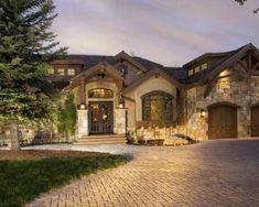 Stucco colors, wood beams, stone.
