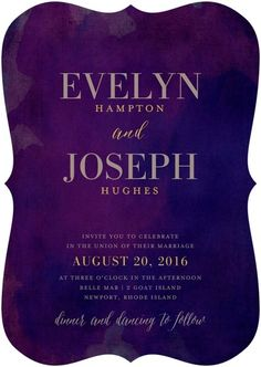 Wedding Stationery Wednesdays: Jewel Tone Wedding Invitations