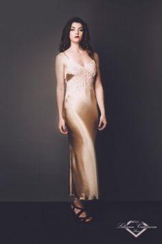 Long Silk Nightdress Longchamp by Liliana Casanova